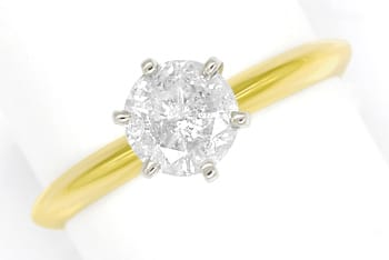 Foto 1 - Diamantring mit 0,85ct Brillant Solitär in Krappen Ring, S1715