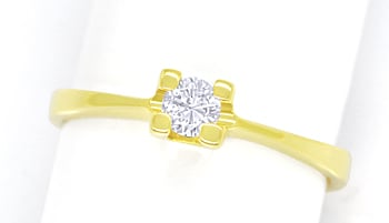 Foto 1 - Diamantring mit 0,20ct Brillant Solitär in 14K Gelbgold, S1751