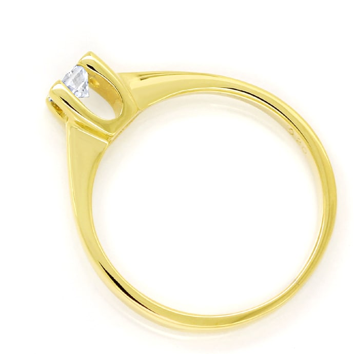 Foto 3 - Diamantring mit 0,20ct Brillant Solitär in 14K Gelbgold, S1751