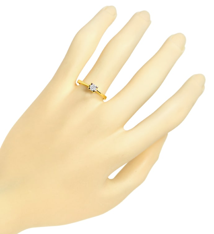 Foto 4 - Diamantring mit 0,20ct Brillant Solitär in 14K Gelbgold, S1751