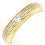 Herren Ring mit Lupenreinem Brillant in massiv 18K Gold