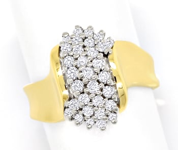 Foto 1, Dekorativer Diamantenring mit 0,52ct Brillanten in Gold, S1761