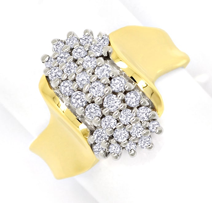 Foto 2, Dekorativer Diamantenring mit 0,52ct Brillanten in Gold, S1761