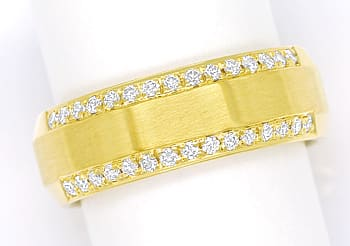 Foto 1 - Diamantring mit 30 Brillianten in massiv 585er Gelbgold, S1763