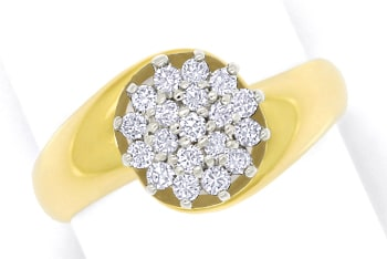 Foto 1 - Diamantring mit 0,40ct Brillanten in Gelbgold Weissgold, S1768