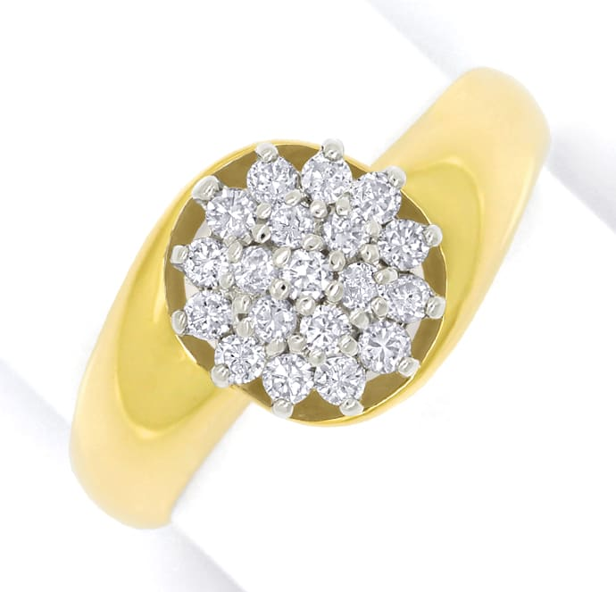 Foto 2 - Diamantring mit 0,40ct Brillanten in Gelbgold Weissgold, S1768
