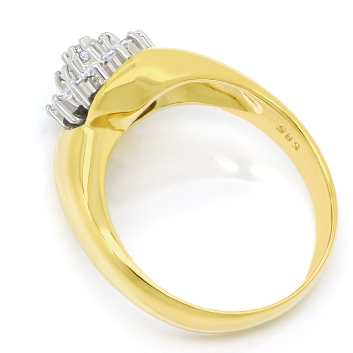 Foto 3 - Diamantring mit 0,40ct Brillanten in Gelbgold Weissgold, S1768