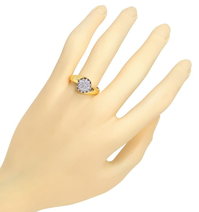 Foto 4 - Diamantring mit 0,40ct Brillanten in Gelbgold Weissgold, S1768