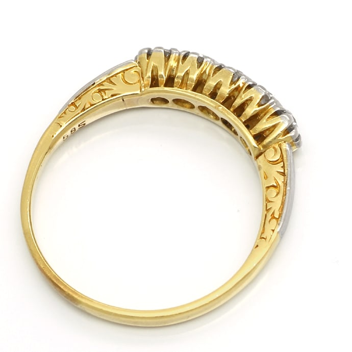 Foto 3, Diamanten Halbmemory Ring 0,50ct Brillanten Gold Platin, S1772