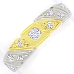 Toller Bicolor Bandring mit 0,27ct Brillianten 14K Gold