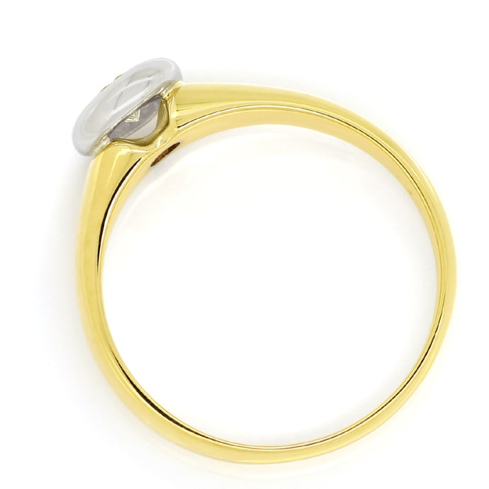 Foto 3 - Solitärring mit Viertelkaräter Brillant in Bicolor Gold, S1776