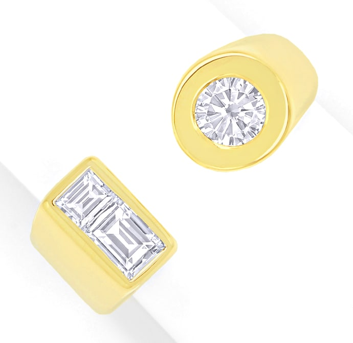 Foto 2 - Design Goldring Brilliant Solitär und Diamant Baguetten, S1796