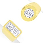 Design Goldring Brilliant Solitär und Diamant Baguetten