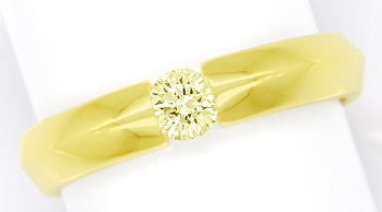 Foto 1, Diamantring mit 0,30ct Brillant Solitär in 14K Gelbgold, S1797