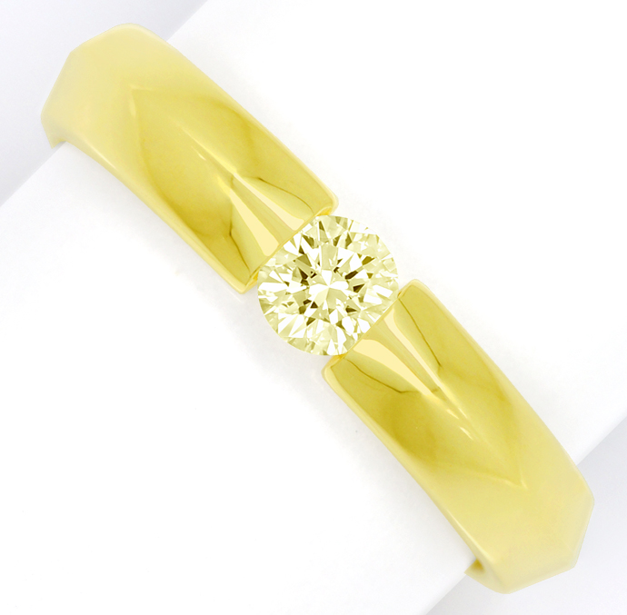 Foto 2, Diamantring mit 0,30ct Brillant Solitär in 14K Gelbgold, S1797
