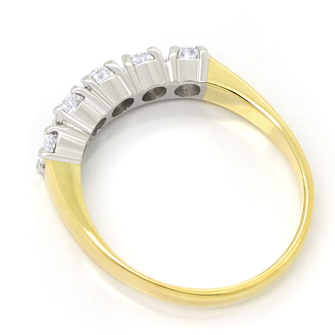 Foto 3 - Allianz Halbmemoryring mit 0,38ct Brillanten 585er Gold, S1798