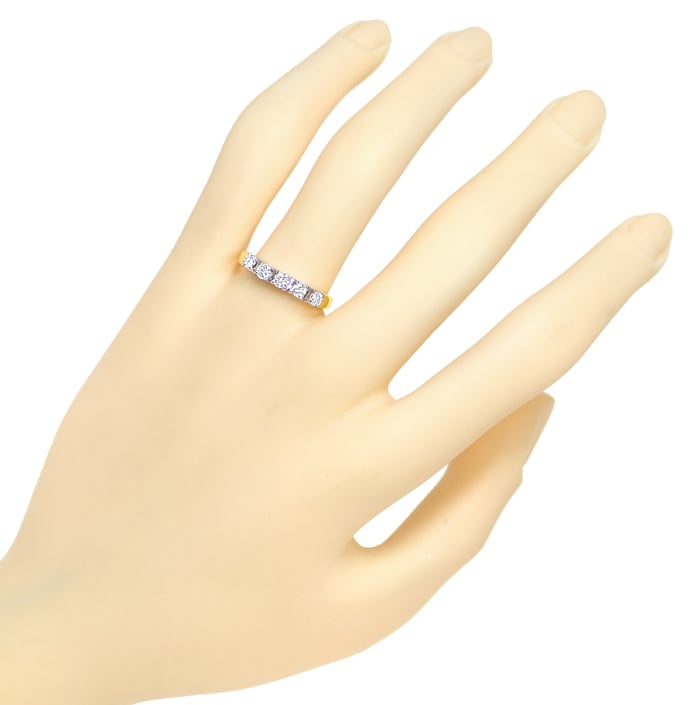 Foto 4 - Allianz Halbmemoryring mit 0,38ct Brillanten 585er Gold, S1798
