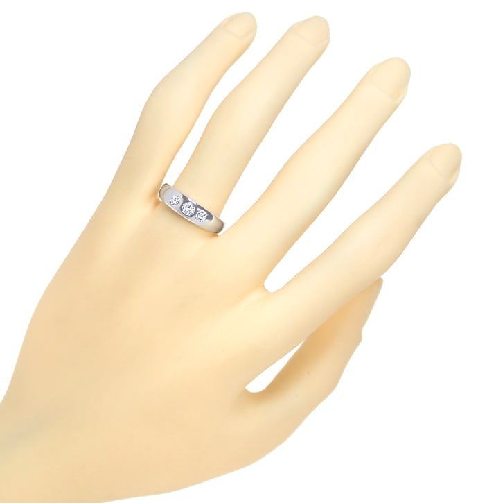 Foto 4, Diamantbandring mit 0,31ct Brillanten in 585er Weißgold, S1802