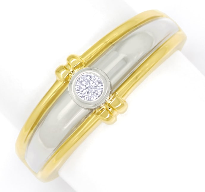 Foto 2 - Design Diamantring mit Brillant Solitär in Gold Bicolor, S1803