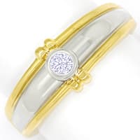 zum Artikel Design Diamantring mit Brillant Solitär in Gold Bicolor, S1803