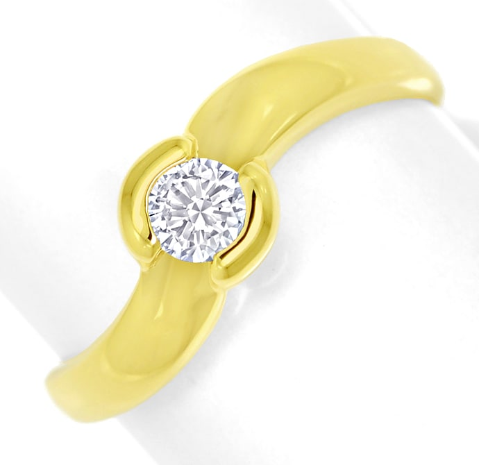 Foto 2, Diamantring mit 0,23ct lupenreinem Brillant in Gelbgold, S1806