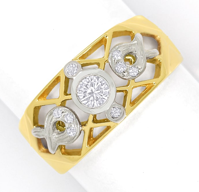 Foto 2 - Filigraner Bandring mit 0,20ct Brillanten in 750er Gold, S1832