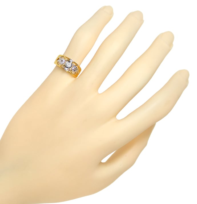 Foto 4 - Filigraner Bandring mit 0,20ct Brillanten in 750er Gold, S1832