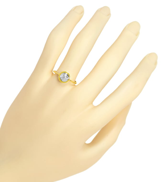Foto 4, Lupenreine Diamanten in tollem Diamantring aus 14K Gold, S1843