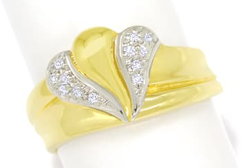 Foto 1 - Designer Diamantbandring mit 12 Diamanten in 585er Gold, S1844