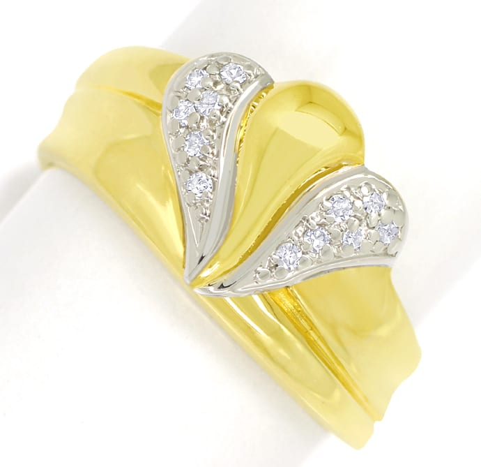 Foto 2 - Designer Diamantbandring mit 12 Diamanten in 585er Gold, S1844