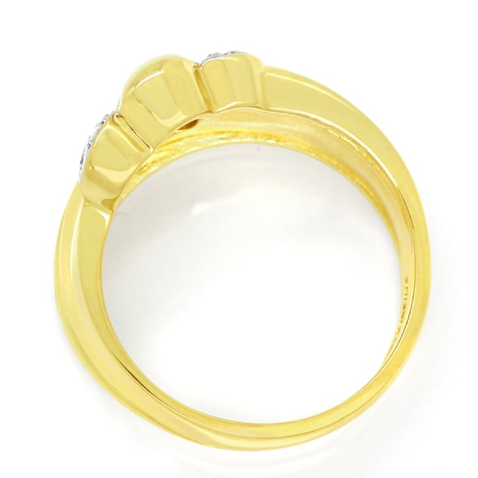Foto 3 - Designer Diamantbandring mit 12 Diamanten in 585er Gold, S1844
