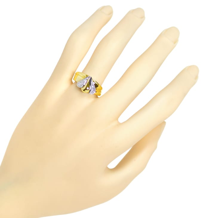 Foto 4 - Designer Diamantbandring mit 12 Diamanten in 585er Gold, S1844
