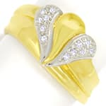 Designer Diamantbandring mit 12 Diamanten in 585er Gold