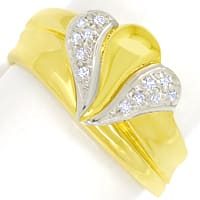 zum Artikel Designer Diamantbandring mit 12 Diamanten in 585er Gold, S1844