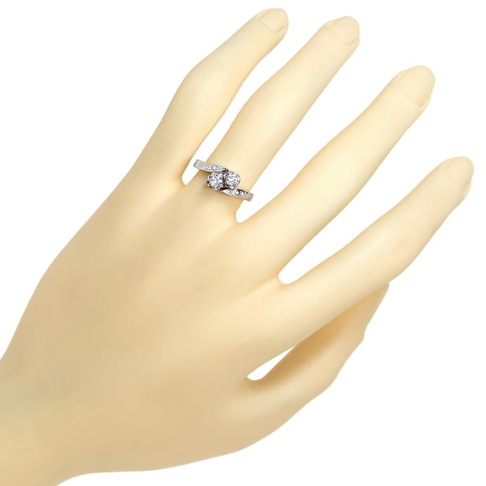 Foto 4 - Damenring mit 0,25ct Diamanten in 14K Weissgold, S1845