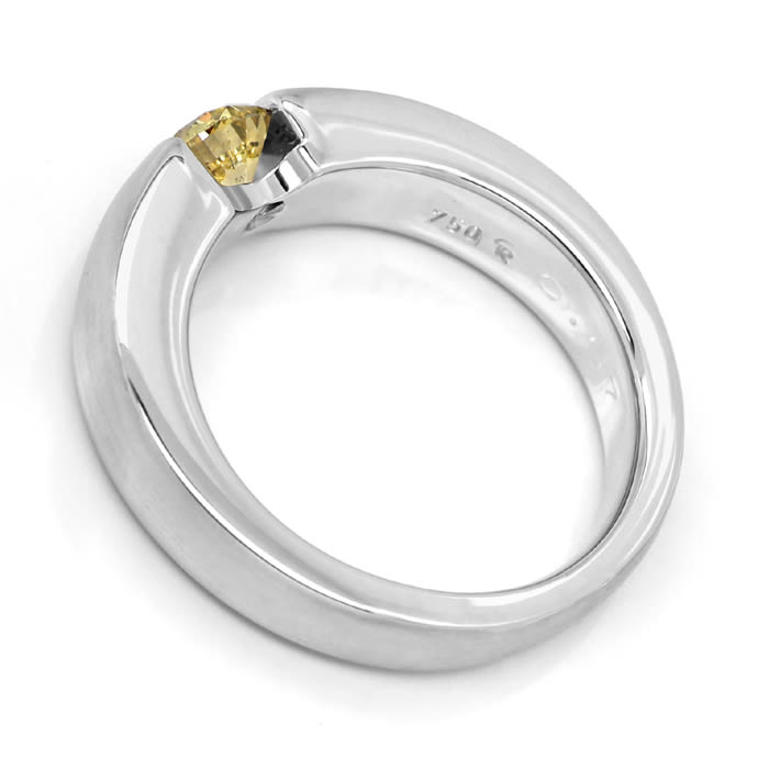 Foto 3, Diamantring 0,57ct Goldenem Brillant 18K Weißgold, S1856