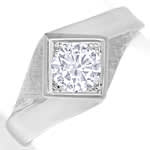 Designer Diamantring mit 0,63ct Brillant Weissgold