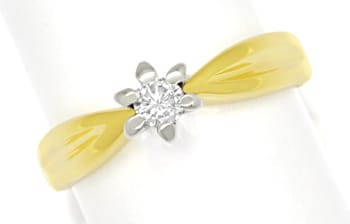 Foto 1 - Diamantring mit 0,12ct Brillant Solitär 14K Gold, S1875