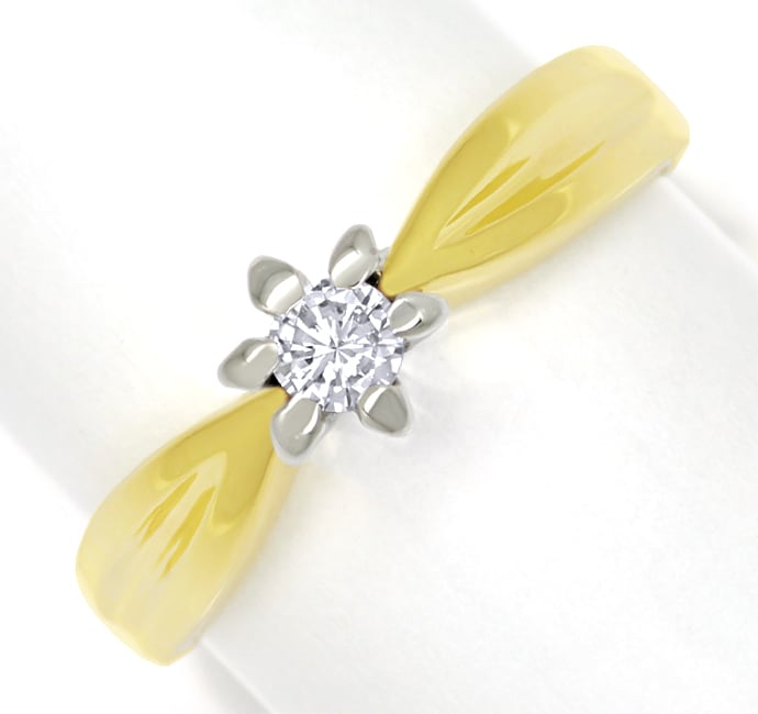 Foto 2 - Diamantring mit 0,12ct Brillant Solitär 14K Gold, S1875