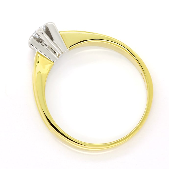Foto 3 - Diamantring mit 0,12ct Brillant Solitär 14K Gold, S1875
