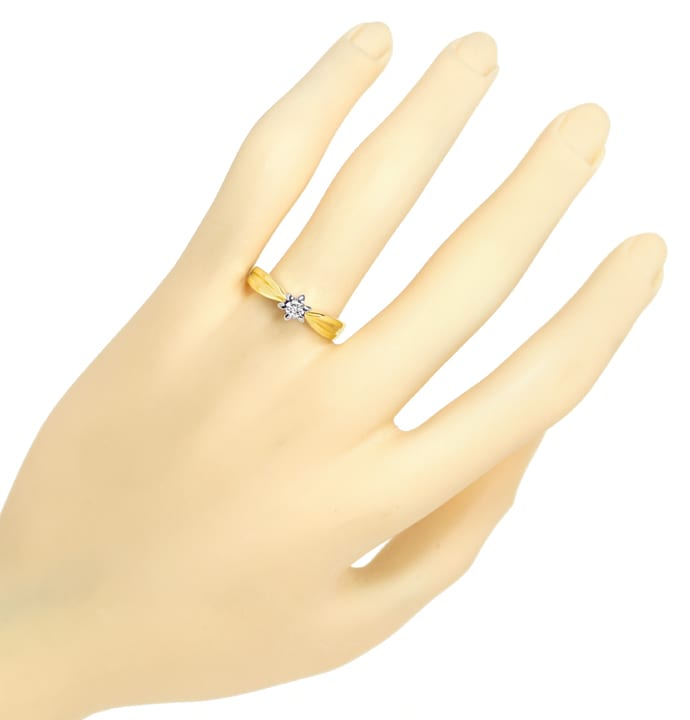 Foto 4 - Diamantring mit 0,12ct Brillant Solitär 14K Gold, S1875