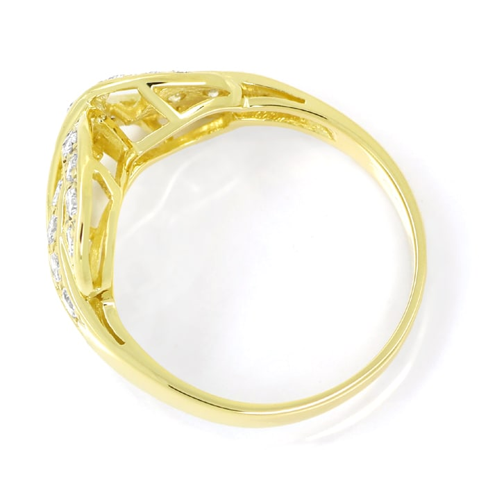 Foto 3 - Design Diamantring Gelbgold mit 0,60ct Brillanten, S1876
