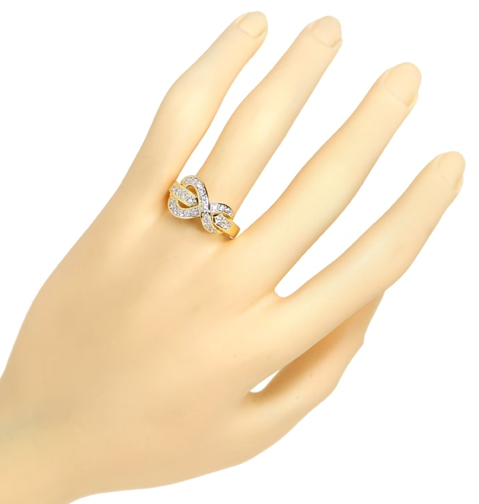 Foto 4 - Design Diamantring Gelbgold mit 0,60ct Brillanten, S1876