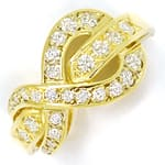 Design Diamantring Gelbgold mit 0,60ct Brillanten
