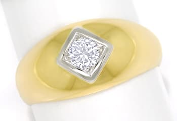 Foto 1, Herren Diamantbandring 0,32ct Brillant 585er Gold, S1881