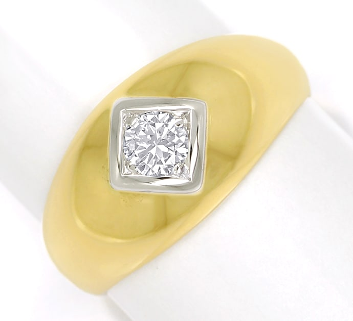 Foto 2, Herren Diamantbandring 0,32ct Brillant 585er Gold, S1881