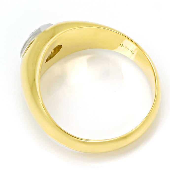 Foto 3, Herren Diamantbandring 0,32ct Brillant 585er Gold, S1881