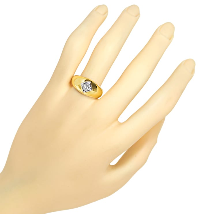 Foto 4 - Herren Diamantbandring 0,32ct Brillant 585er Gold, S1881