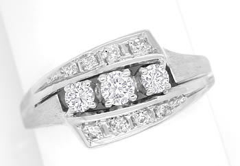 Foto 1 - Damenring mit 0,42ct Diamanten in 14K Weissgold, S1882