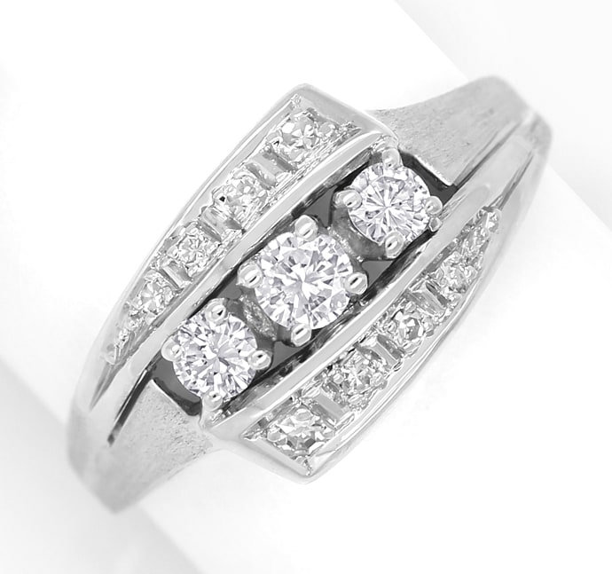 Foto 2 - Damenring mit 0,42ct Diamanten in 14K Weissgold, S1882